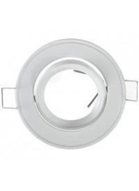 Encadrement Spot Rond Orientable Diam 86mm Finition Blanc