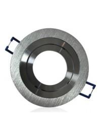 Encadrement Spot Rond Orientable Diam 92mm Finition Aluminium Brossé