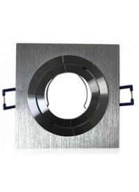 Encadrement Spot Carré Orientable 92X92mm Finition Aluminium Brossé