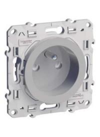 Mécanisme Prise de Courant 2P + Terre Aluminium Odace
