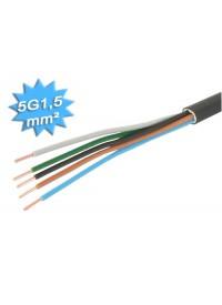 Cable Electrique R02V Rigide 5G1.5 Au mètre