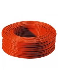 Bobine de Fil électrique Rigide H07VU 1.5 mm² Rouge 100 Mètres