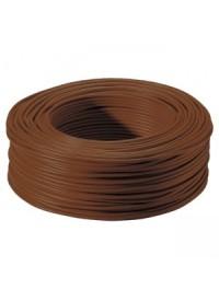 Bobine de Fil électrique Rigide H07VU 1.5 mm² Marron 100 Mètres
