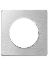 Plaque Odace Touch - Aluminium Brossé- Schneider