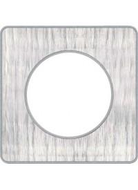 Plaque Odace Touch - Aluminium Brossé Croco- Schneider