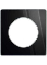 Plaque Odace Touch - Aluminium Brillant Fumé- Schneider