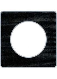 Plaque Odace Touch - Chêne Astrakan Noir - Schneider