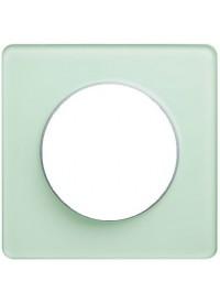 Plaque Odace Touch - Translucide Vert - Schneider