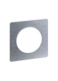 Plaque Odace Touch - Aluminium Brossé - Schneider