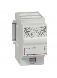 Filtre maître et répartiteur téléphonique 3 sorties et 1 sortie modem - 2 modules Legrand