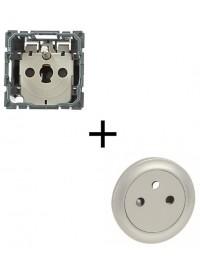 Mécanisme + Enjoliveur Prise 2 P+T Surface Céliane Legrand
