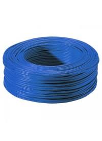 Bobine de Fil électrique Rigide H07VU 2.5 mm² Bleu 100 Mètres