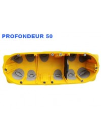Boite d'encastement 3 postes Batibox Energy Legrand Prof 50mm