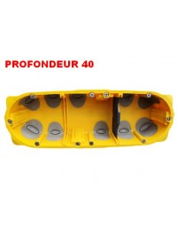Boite d'encastement 3 postes Batibox Energy Legrand Prof 40mm