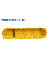 Boîte d'encastrement Cloisons Sèches 4 postes Prof 50mm Legrand