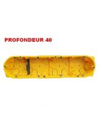 Boîte d'encastrement Cloisons Sèches 4 postes Prof 40mm Legrand