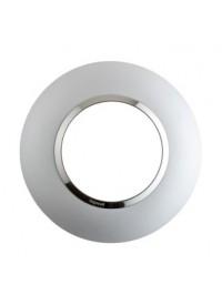 Plaque de finition 1 poste Aluminium Ronde Dooxie Legrand