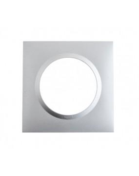 Plaque de finition 1 poste Aluminium Dooxie Legrand