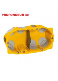 Boite d'encastement 2 postes Batibox Energy Legrand Prof 40mm