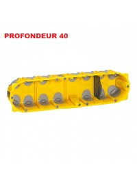 Boite d'encastement 4 postes Batibox Energy Legrand Prof 40mm